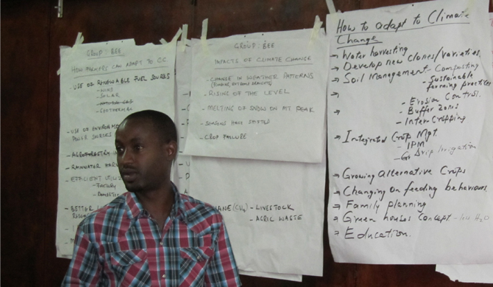 A Partner Africa associate during a brainstorming exercise
