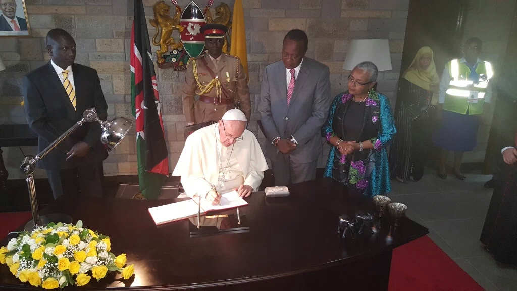Jane Nyambura at Pope Francis' visit