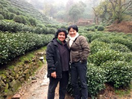 Tg Green Tea founders: Sophia and Hua